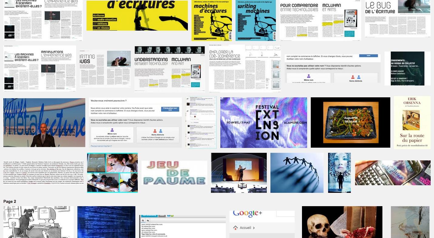 F.A.(A.)Q. sur les machines d'écritures Facebook, Twitter and co (art et identité partie #1)