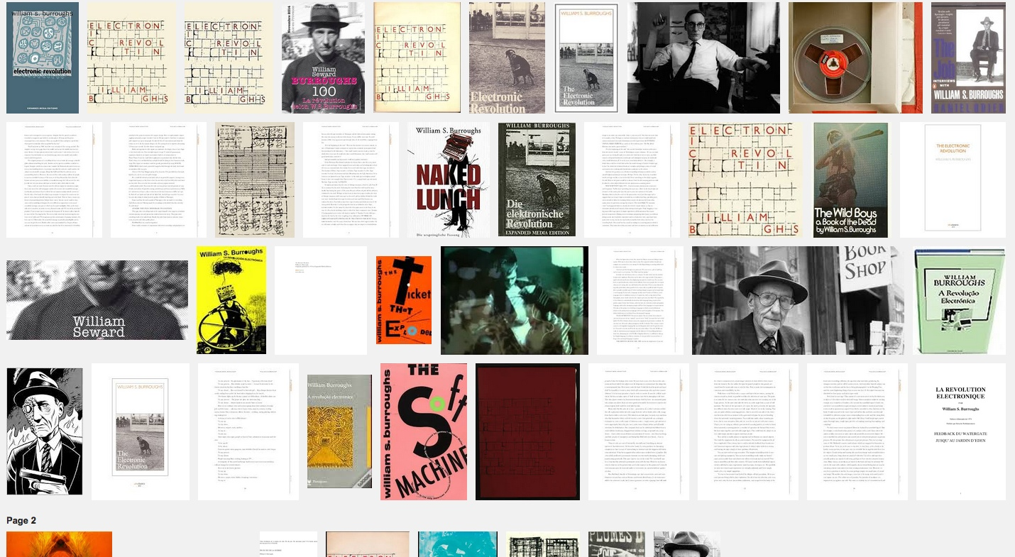 Reading Club – Burroughs – The Electronic Revolution – 14 nov 14