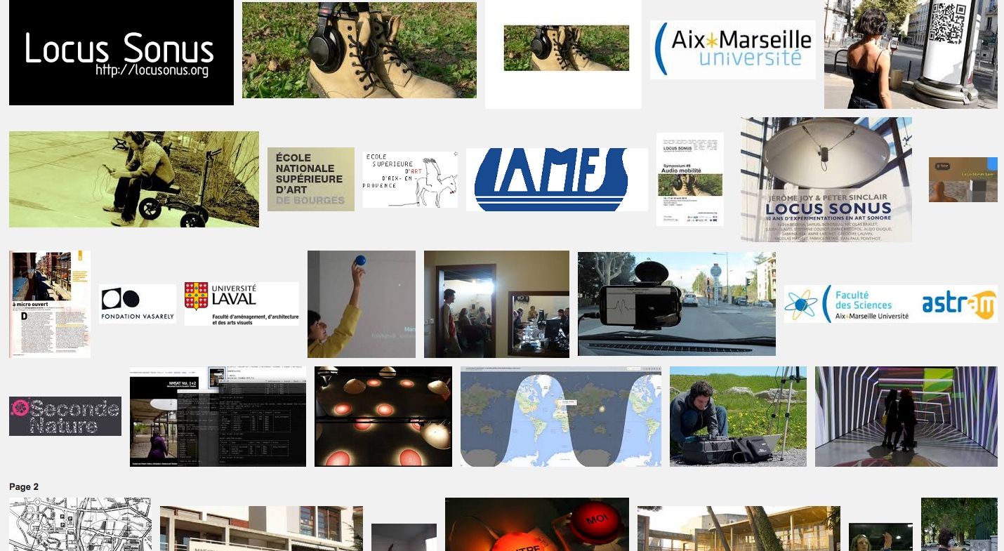 De l'oreille à l'œil – Symposium Audio-Mobilité – ESA Aix-en-Provence – U. d'Aix-Marseille – 16-18 avr 14