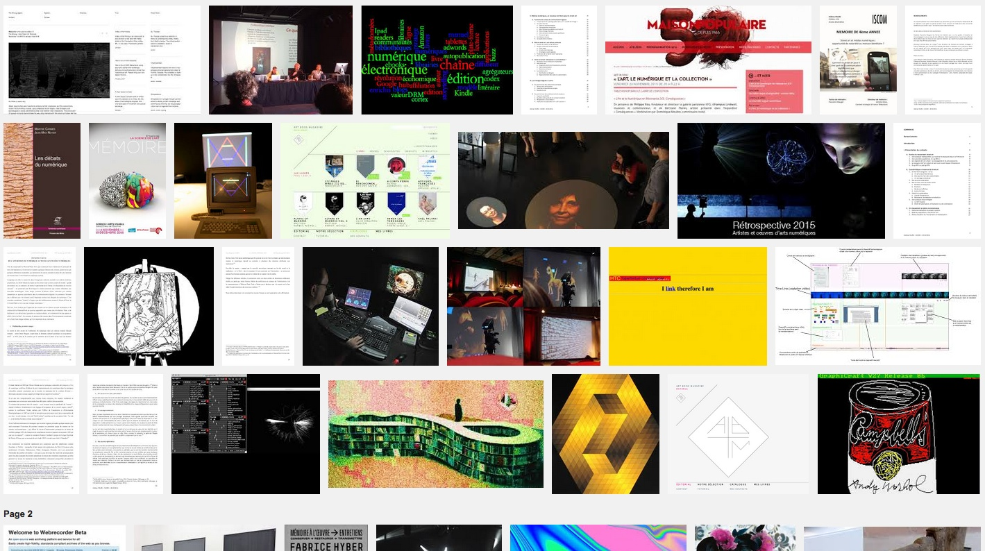 Quelle mémoire pour les œuvres d'art numériques ? – 10 mai 16